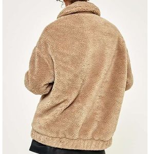 9c9df5feec3 Urban Outfitters Jackets & Coats - UO Light Before Dark Camel Teddy Zip  Jacket